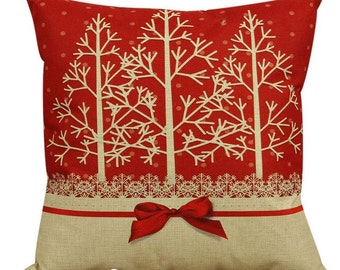 Christmas Tree Landscape - Pillow Cover