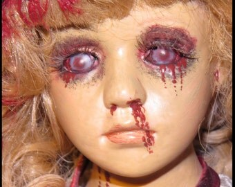 VAMPIRE DOLL Bleeding Vampire Doll Gothic Horror Doll Corpse Doll Zombie Doll Creepy Victorian Doll Hand Painted by SweetDarknessDesigns