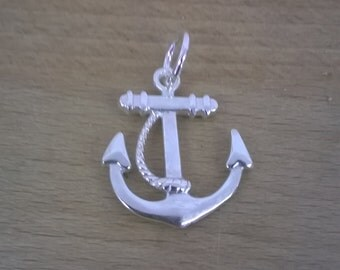 Silver handmade 925 silver cast Anchor