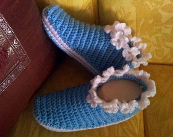 Little Boots With Flower Trim pattern in English only