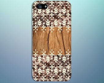 Brown Wood x Granite Flower Pattern Phone Case for iPhone 6 6 Plus iPhone 7  Samsung Galaxy s8 edge s6 and Note 5  S8 Plus Phone Case
