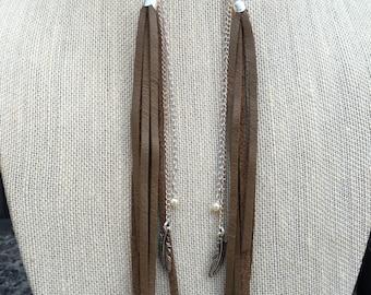 Long Leather Earrings