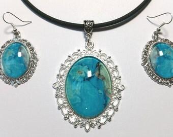 """Jewelry Set """"Aqua"""""""