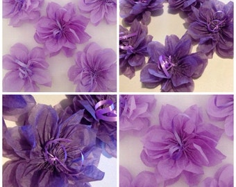 Little Paper flower decorations x 10 wedding party events table/wall decorations