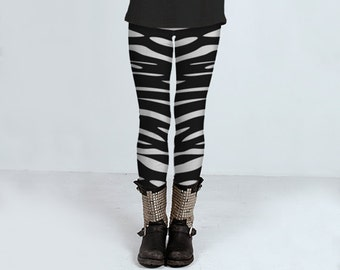Waves Black and White: leggings, yoga leggings, printed leggings, women's clothing, women's leggings, spandex sports