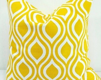 On Sale Yellow Pillow cover.Nicole  Pillow Cover. Sham Pillow case.Select your size.