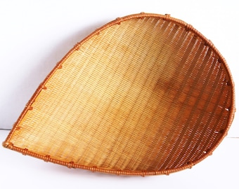 SALE!!! Vintage Tear Drop Shape Wicker Basket.