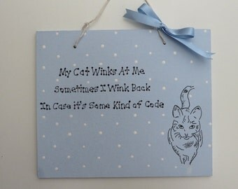 Hand Crafted Cat Plaque 2