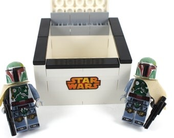 Handmade Novelty Star Wars  Boba Fett Cufflinks with Lego Bricks Box