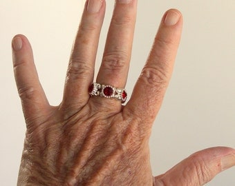Red Stretch Band Ring