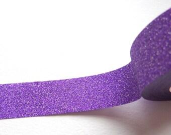 Purlple Glitter Sticky Tape 15mm x 10m