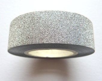 Silver Glitter Sticky Tape 15mm x 10m