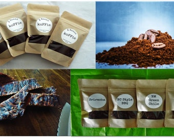 Beef jerky food gifts for him-Husband gift-Beef jerky food gifts-Coffee-Gourmet Coffee Beef Jerky-Snacks-Gourmet food gift-Beef jerky-Gift