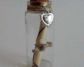 "Message in a Bottle, Romantic Gift, Valentines Day Gift, Love gift for her, Gift for wife anniversary, Love paper, Wedding  ""An Entrapment"""