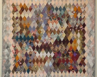 Cold Front - Diamond Pieced Art Quilt