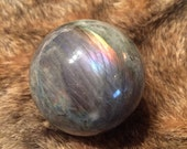 Rainbow Labradorite Gemstone Sphere