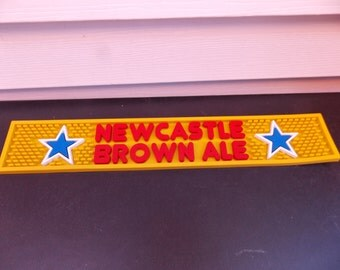 NEWCASTLE Brown Ale Rubber Bar Rail Mat