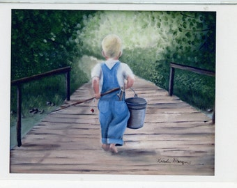 """Greeting cards from Linda Marquis Original Oil Painting, Very Limited. 5"""" X 7""""  with envelope. FREE Shipping   1221L"""