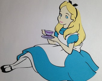 Alice in Wonderland die cut (with teacup)