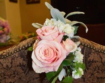 Pew Flowers, Aisle Flowers, Church Aisle Flowers, Church Pew Flowers, Silk Pew Flowers, Chair Wedding Flowers