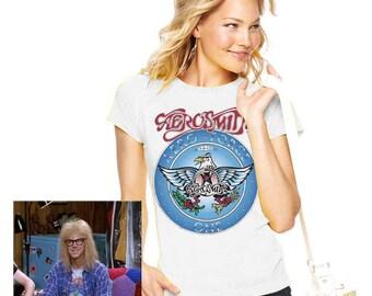 Wayne's World Garth Aerosmith T-shirt Wayne Garth Halloween Costume women fitted Ladies Shirts