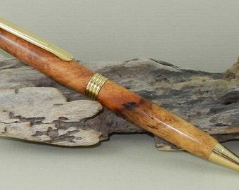 Afzelia Burl Streamlined Twist Pen