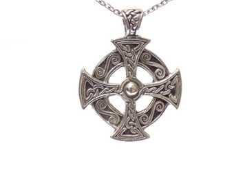 celtic cross necklace, pewter jewelry, celtic cross pendant, cross pendant, celtic pendant, celtic cross, cross necklace, celtic necklace