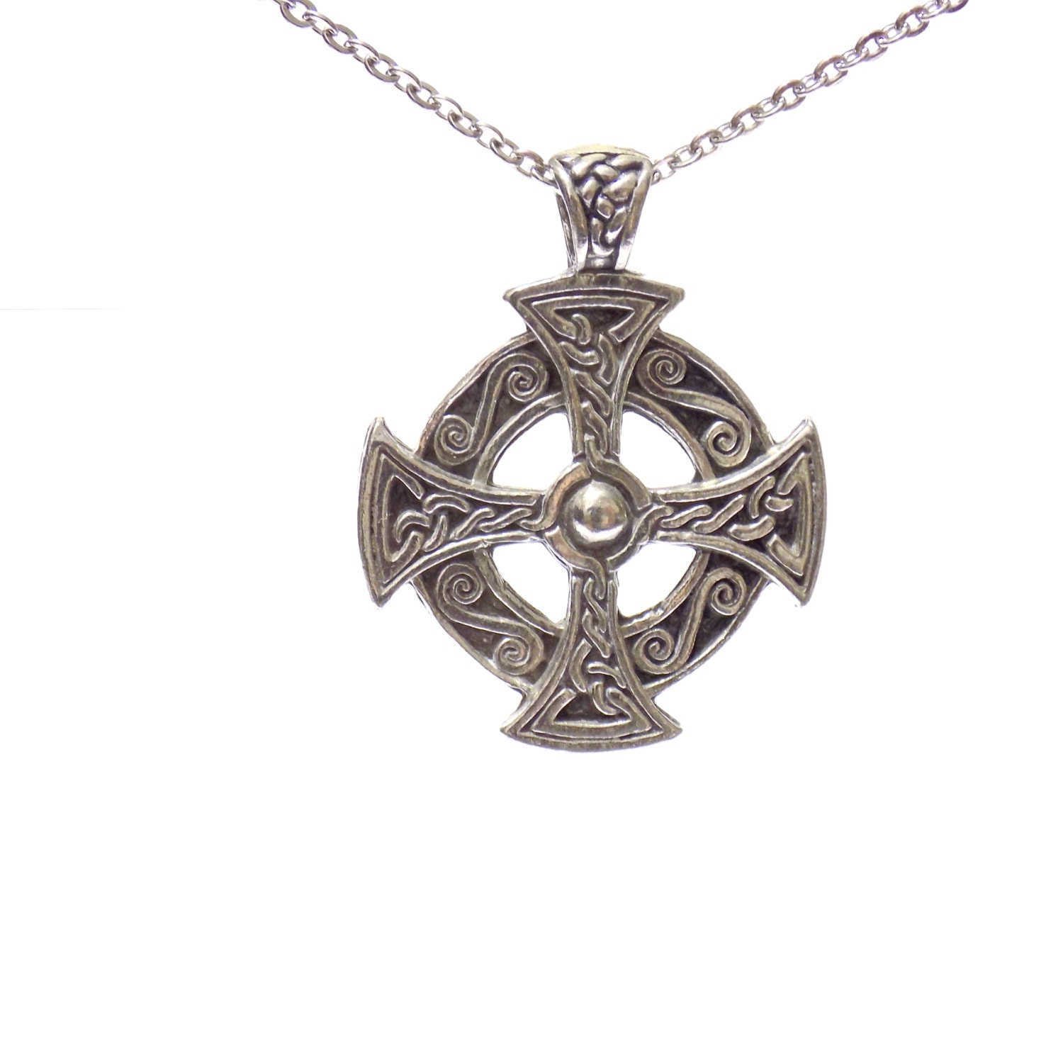 celtic cross necklace pewter jewelry celtic cross pendant. Black Bedroom Furniture Sets. Home Design Ideas
