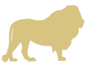 Lion Wood Cutout Etsy