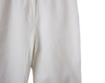 Charter Club White Checkered Stretch Pant - Size 8