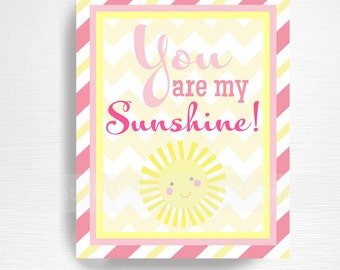 You Are My Sunshine INSTANT DOWNLOAD Sunshine Party Printable 8x10