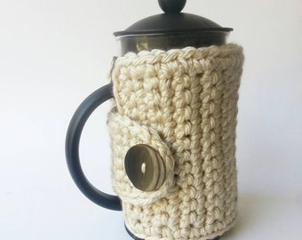 French Press Cozy - Cafetiere Cosy - Coffee Pot Cozy - Coffee Press Cozy
