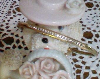 Womens Diamond Bangle - Bracelet, 23 Channel Set Brilliant Cut Diamonds, 9K Gold Bangle, G Diamonds, 10 Grams Weight