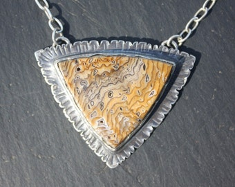 Hell's Canyon, Petrified Wood, Sterling Silver,Designer, Pendant