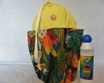 Lucky Penny Bingo Bag,Bingo Bag, Floral Bingo Bag,Yellow Bingo Bag,Blue Bingo Bag, Turquoise Bingo Bag, Washable Bingo Bag, Cotton Bingo Bag