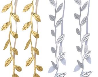 Mother / daughter headband, gold leaf headband, silver leaf headband, mom and me headband, greek headband, toga, roman headband