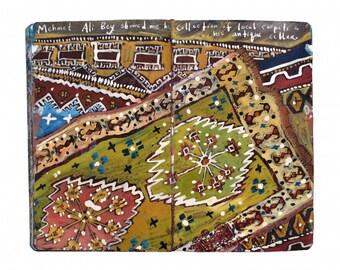 "Fine Art Print - Original Painting from Artist Travel Journal - ""Antique Turkish Carpets"""