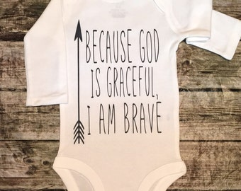 Baby Boy bodysuit, God Is Graceful bodysuit For Baby Boys Religious bodysuit, GOD bodysuit, Religious Baby Shirt