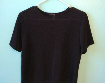 Vintage 80s/90s sheer black top