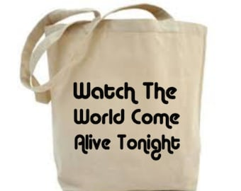 Lyric Tote Bag, Song Lyric Bag, Song Word Bag, Choose Your Own Lyric (Up to 15 words).