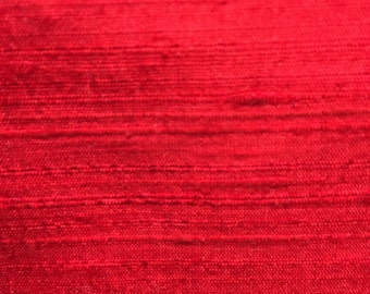 Silk Dupioni Red