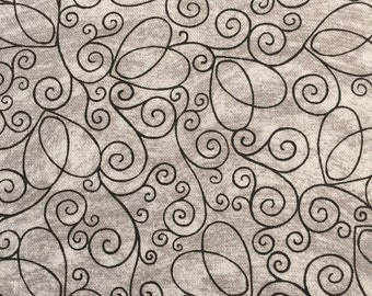 Gray swirls by Tricia Santry for Blank Textiles