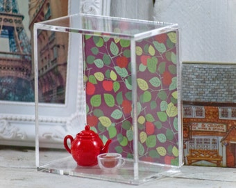 Acrylic Shadow Box Wall Shelf with Interchangeable Graphic