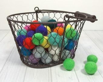 Handmade Felt Pom Poms - Felt Balls - 2 cm - 100% Merino Wool