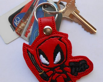 Deadpool Key Fob, Key Chain, Key Ring