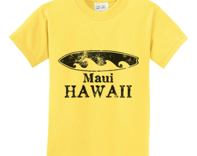 Maui Hawaii Surfboard T-Shirt