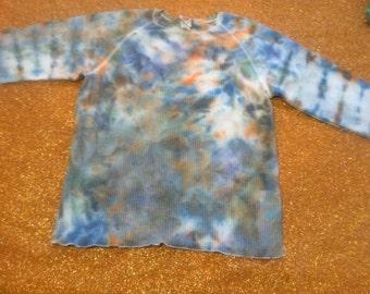 Women's XL Tie Dye Thermal Shirt