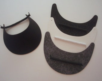 No Headache Foam Sun Visors Laminated with Fashion Fabrics