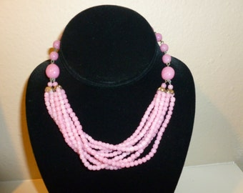 Vintage Peking Glass Choker Necklace