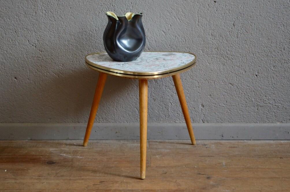 Table tripode dessins vintage pi tement compas boh me ann es - Table tripode annees 50 ...